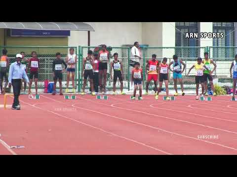 100m Girls Under 14 - Kerala State Junior Athletics 2018