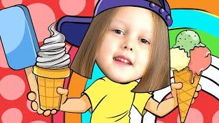 Изучаем Английский с Амелькой Learn Colors Мороженое из Кинетического песка Изучаем цвета