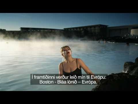 Anna Wright talar um Ísland, Bláa Lónið og KEF.mpg