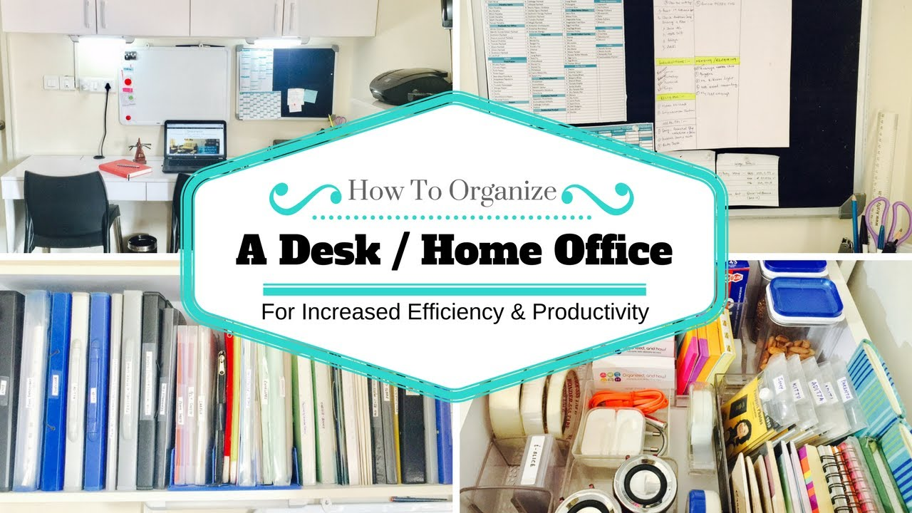 How To Organize Desk/Home Office/Study Table - YouTube