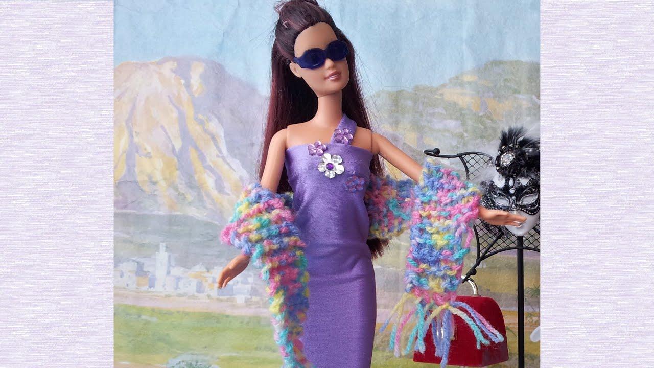 Cómo hacer ropa para muñecas con reciclaje!!! 7ª parte DIY - YouTube