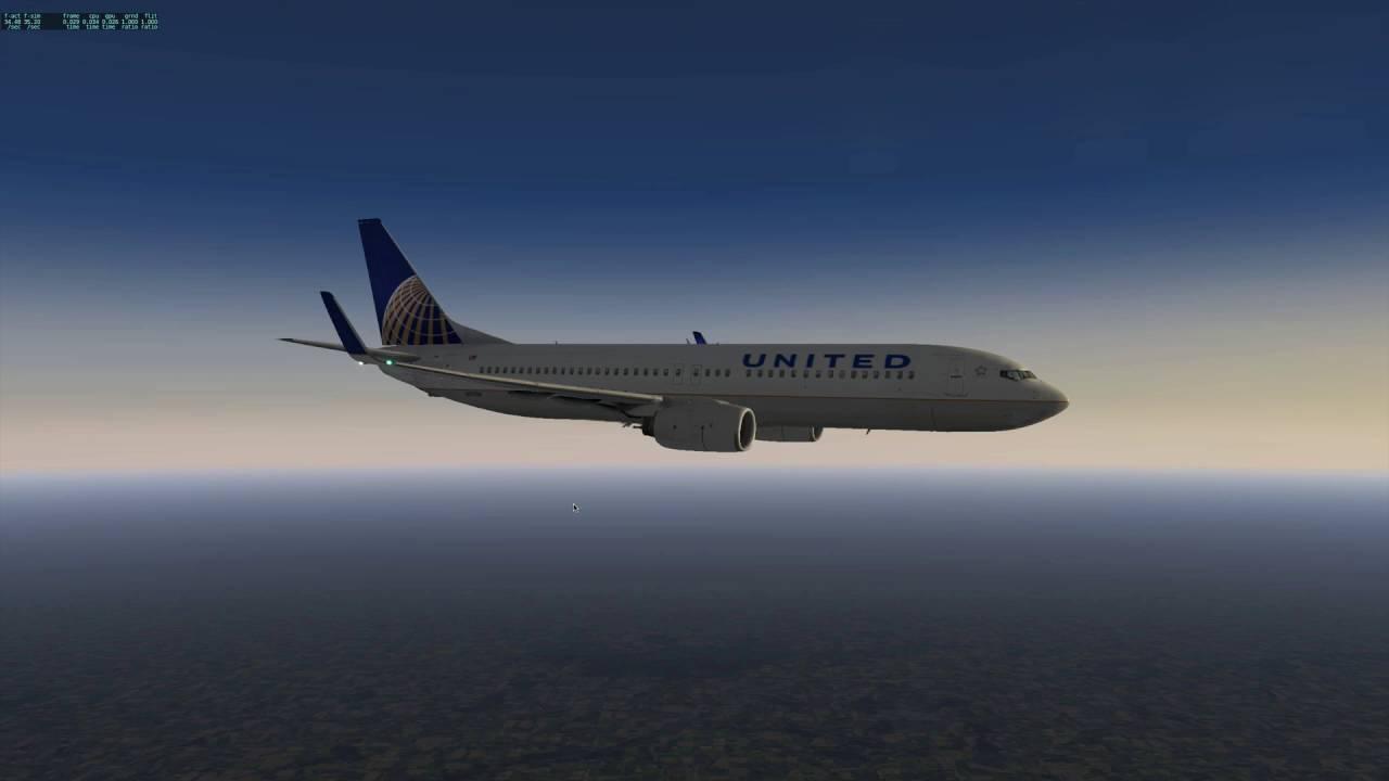 X-Plane x737 with midflight FMC change