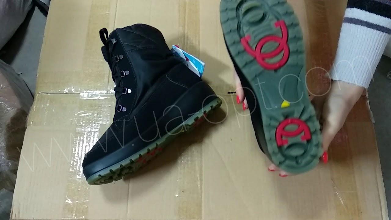 thumbnail video Женская и мужская зимняя обувь оптом сток 18,9 €/пара лот #178