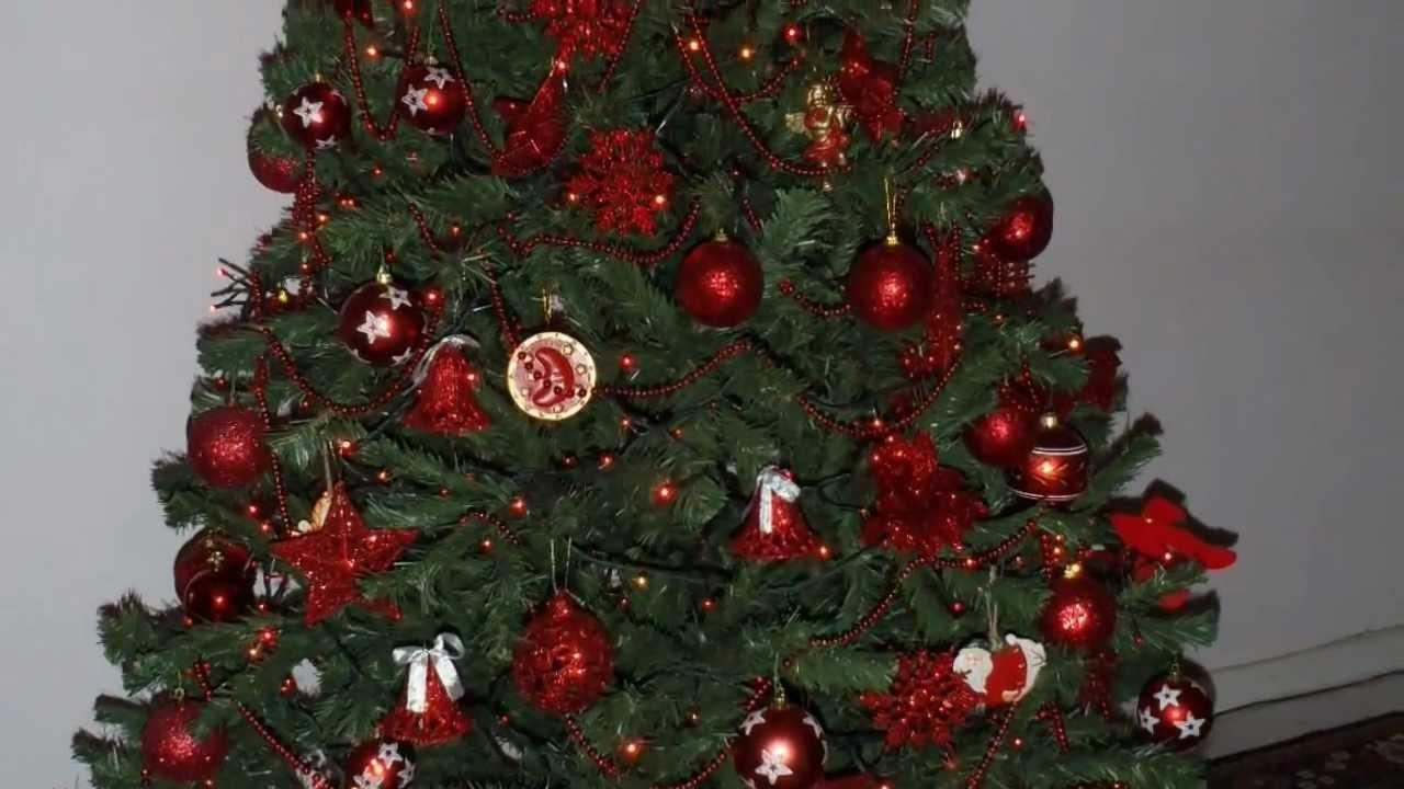 Albero di natale 2011 rosso rosso youtube for Obi albero di natale