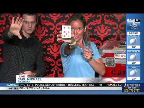 Amanda Live with Magician Carl Michael