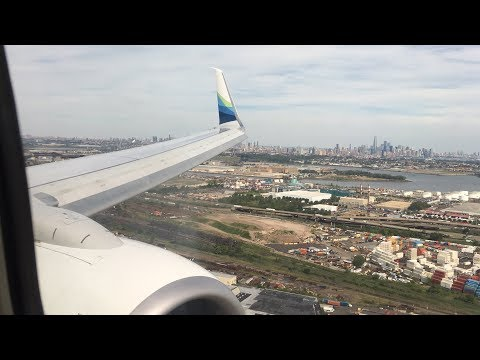 (HD) Alaska Airlines PREMIUM class 737-800 Seattle - Newark