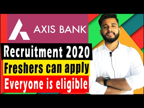 🔴 Axis Bank Recruitment 2020 | Private Bank Jobs 2020 | Jobs in Bank
