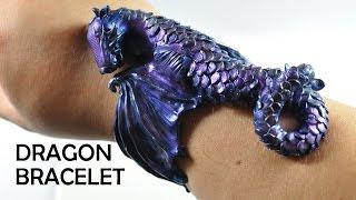 Dragon Cuff Bracelet - polymer clay TUTORIAL
