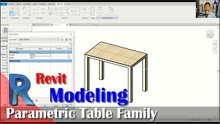 Revit Parametric Table Family With Length And Width Tutorial