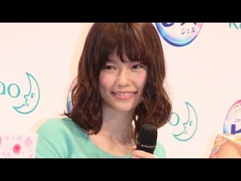 島崎遥香さわやかミニワンピで美脚すらりフレグランスニュービーズ新CM発表会3 #Haruka Shimazaki #Japanese Idol