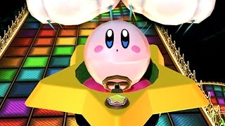 Mario Kart 8 Kirby in Rainbow Road Gameplay | Kirby Vs. Mario Characters