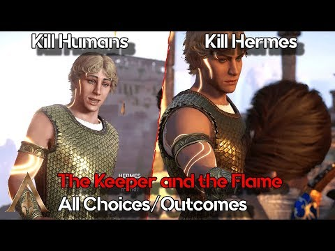 The Keeper And The Flame All Choices/Outcomes - Assassin's Creed Odyssey - Fate Of Atlantis DLC