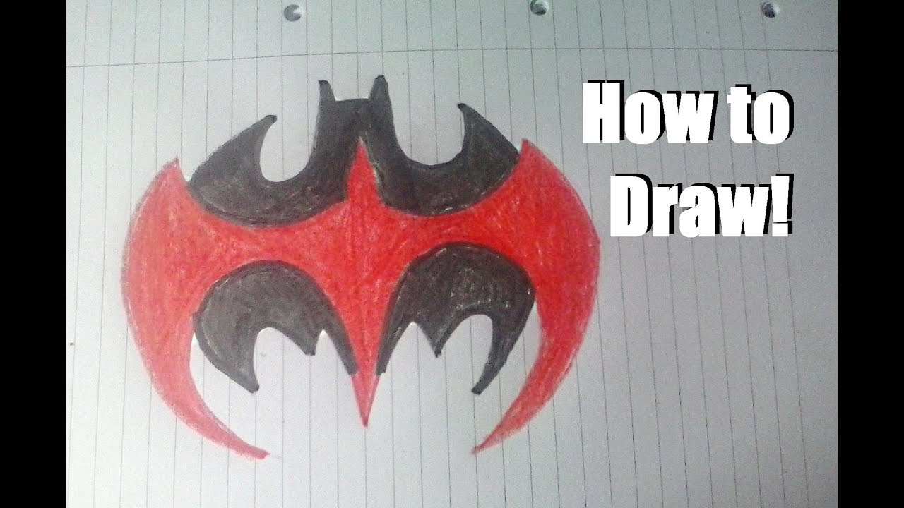 How To Draw Batman Robin Logo Youtube