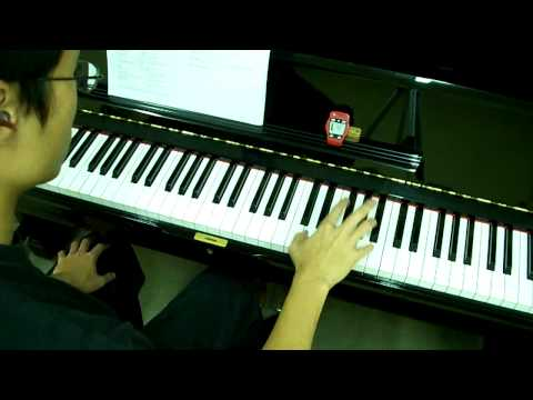 ABRSM Piano 2009-2010 Scales Grade 7 - 5a. Staccato Sixths in C RH at 52