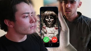 CALLING ANNABELLE DOLL ON FACETIME AT 3 AM! (SHE ATTACKS US) DO NOT FACETIME ANNABELLE *THIS IS WHY*