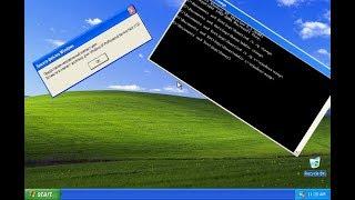 Двойное УДАЛЕНИЕ Windows XP!