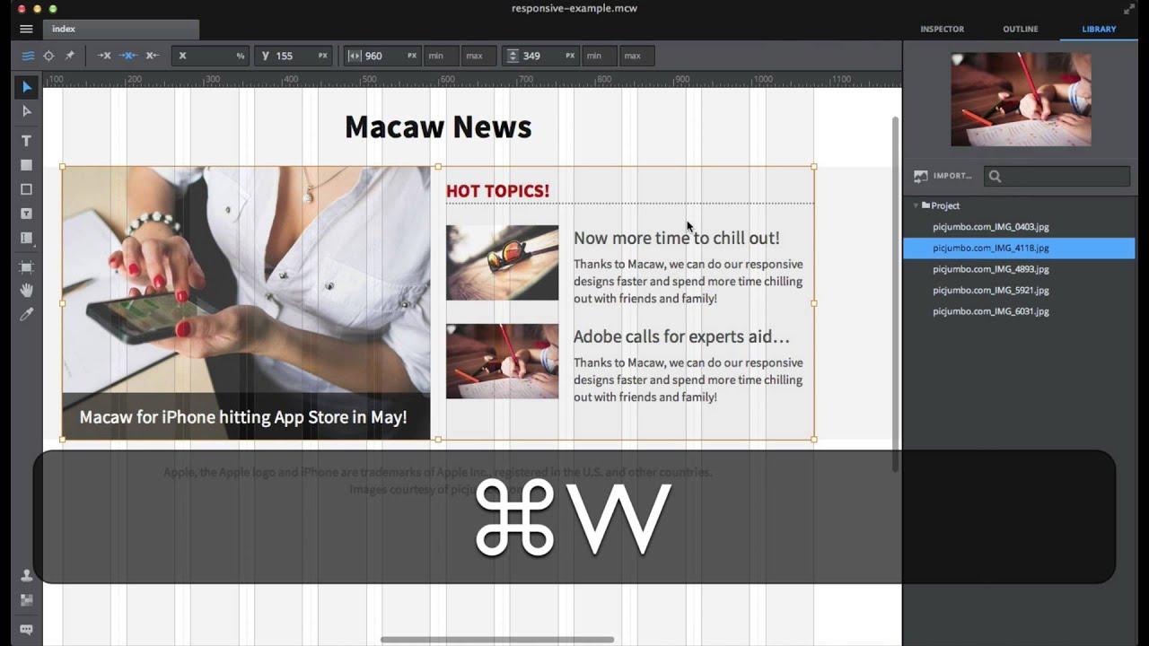 Macaw 0.8 beta review (part 2) - Responsive design - YouTube