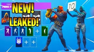 *NEW* Fortnite Leaked Skins & Emotes (Phone It In, Scorecard, Showstopper, Mime Time...)!