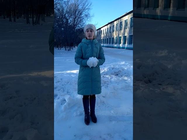 Изображение предпросмотра прочтения – ДианаКолотий читает произведение «Зима недаром злится..» Ф.И.Тютчева