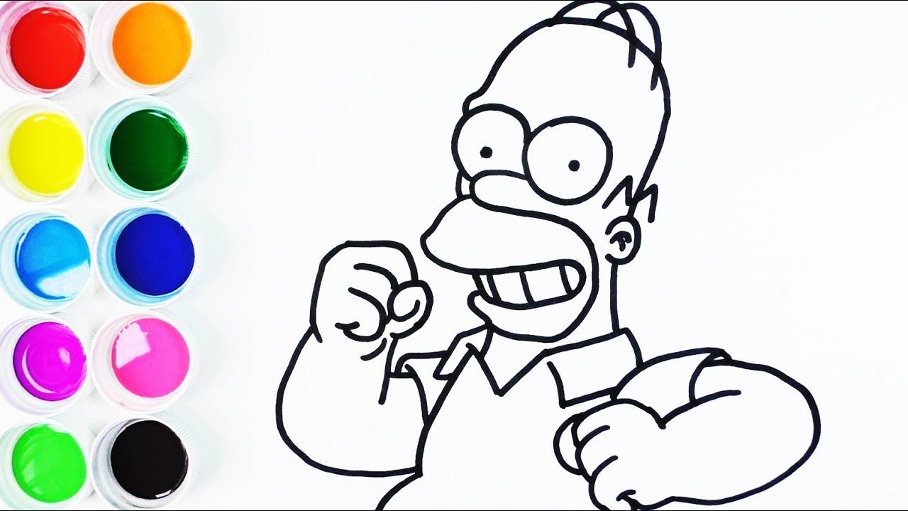 C mo dibujar y colorear a homero simpson dibujo f cil for Comedor facil de dibujar