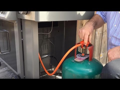 Usædvanlig Weber® Genesis® II: How To Attach A Gas Bottle On The Side - YouTube VQ85