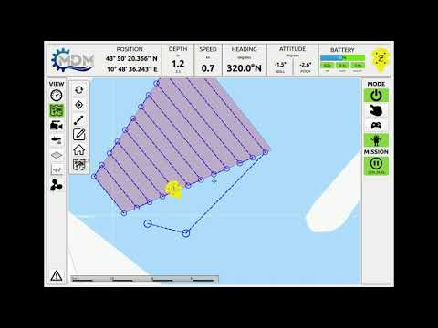 MDM Zeno AUV: Planning and executing underwater surveys.