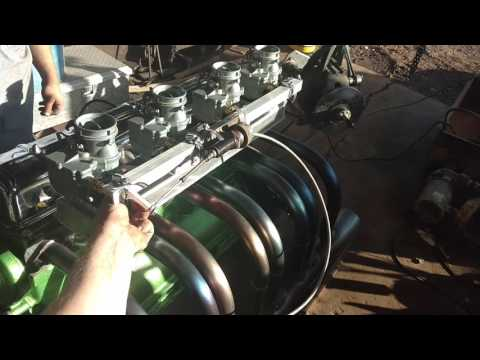 Buick straight 8 fire up headers 97 carbs