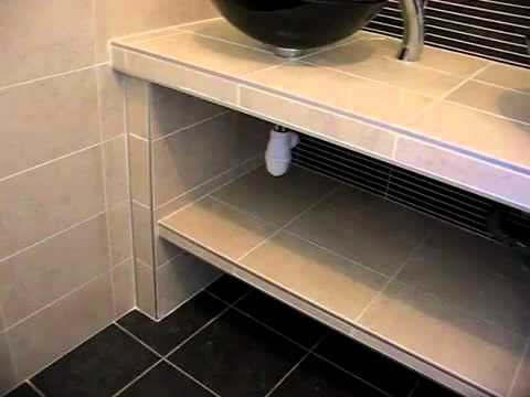 sdb4 plan vasques carrelé - youtube