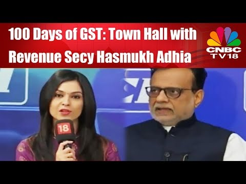 100 Days of GST | Town Hall with Revenue Secy Hasmukh Adhia | Full Episode | CNBC TV18