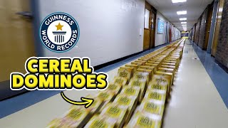 Longest Cereal Box Dominoes - Guinness World Records