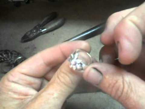 Silver Spinning Daisy Ring