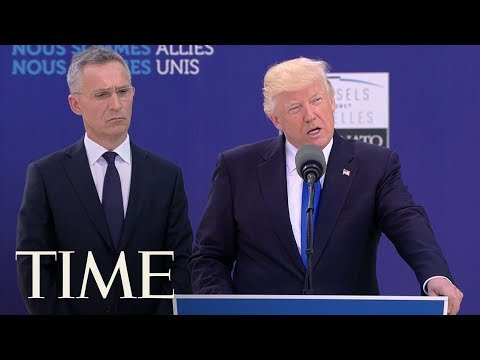 Download Youtube: President Trump Pushes NATO Members To Pay 'Their Fair Share' | TIME