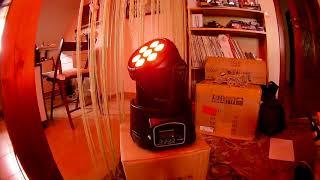 Lixada Mini Stage Light 7LED 105W RGBW DMX