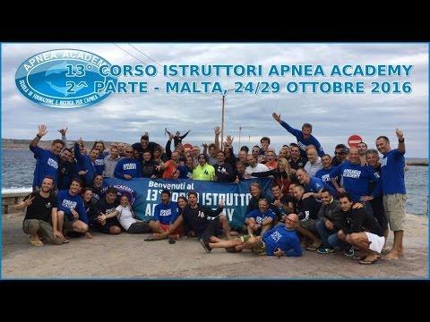 Corso Istruttori Apnea Academy 2016 - MALTA