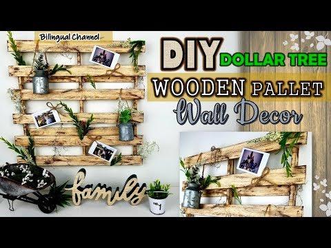 Rustic Home Wall Decor | Wooden Pallet DIY | Dollar Tree DIY
