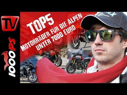 Top 5 - Motorräder für die Alpen unter 7000 Euro