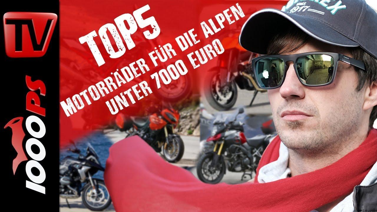 top 5 motorr der f r die alpen unter 7000 euro motorrad kaufberatung gebrauchtkauf youtube. Black Bedroom Furniture Sets. Home Design Ideas