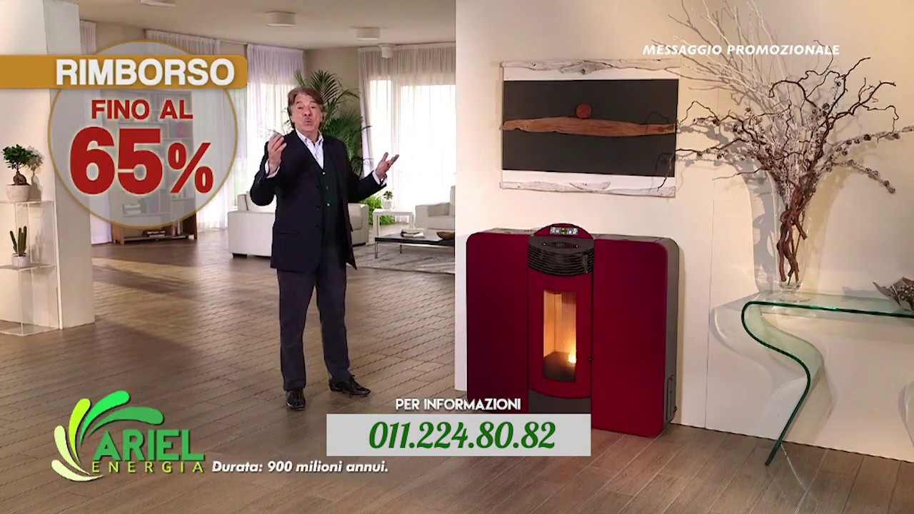 Sconto del 50 sulle stufe a pellet ariel energia youtube for Ariel stufe a pellet