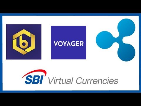 Bitrue XRP Base Currency - SBI VC Postcards - Ripple Cory Johnson Fox Bus - Voyager Crypto Exchange