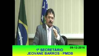 Jeovane Barros Pronunciamento 09 12 16