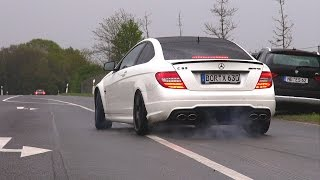 600HP Wimmer Performance Mercedes-Benz C63 AMG Coupe - BURNOUT!(I have filmed an insane burnout by a 600HP tuned Mercedes-Benz C63 AMG Coupe by Wimmer Performance, during a super car event in Germany. The video ..., 2015-05-08T10:00:01.000Z)