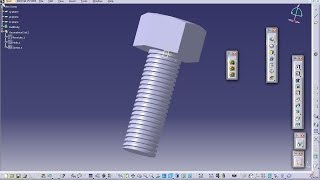 Catia V5 Tutorial|How to Create Threaded Hex Screw(Easy Steps for Beginners)-Subscriber Requested