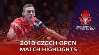 Dimitrij Ovtcharov vs Liam Pitchford | 2018 Czech Open Highlights (1/4)