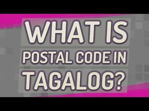 What Is Postal Code In Tagalog?