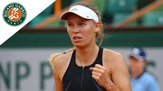 Caroline Wozniacki vs Pauline Parmentier - Round 3 Highlights I Roland-Garros 2018