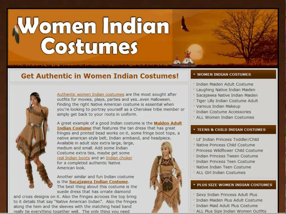 Women Indian Costumes   Authentic Native American Costume   Female - YouTube  sc 1 st  YouTube & Women Indian Costumes   Authentic Native American Costume   Female ...