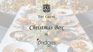 The Grand Christmas Box by Bridges 5-course dinner and wine pairing instructions