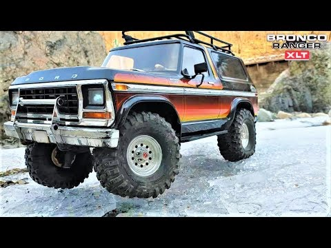 rc car traxxas trx4 ford bronco ice rock crawling youtube. Black Bedroom Furniture Sets. Home Design Ideas