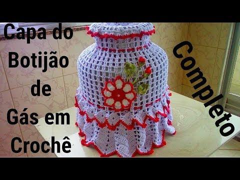Capa do Botijão de Gás Natalino em crochê,para ser usado no Especial de Natal, na Noite de Natal