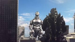 Godzilla vs MechaGodzilla [Stop Motion]